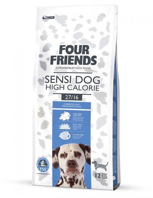 Four Friends Sensi Dog High Calorie 12 kg. Glutenfritt torrfoder med högre kaloriinnehåll för en aktiv men känslig hund.
