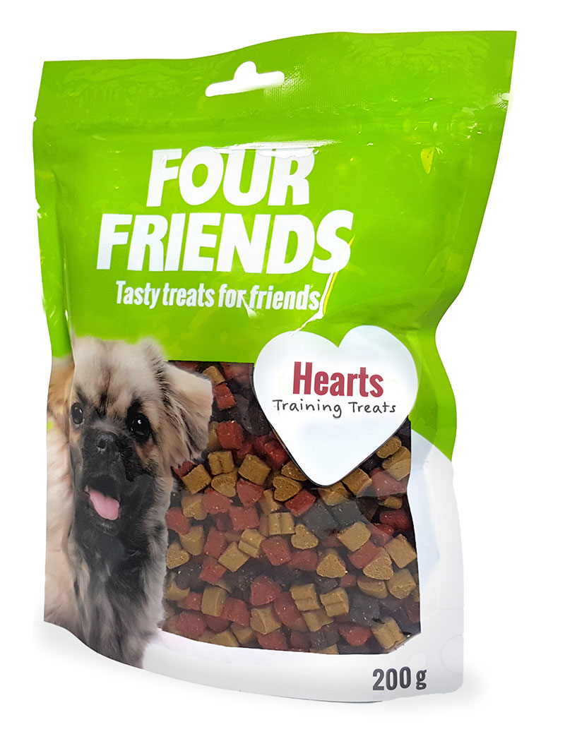 Four Friends Training Treats Hearts 200 g. Träningsgodis till hundar.