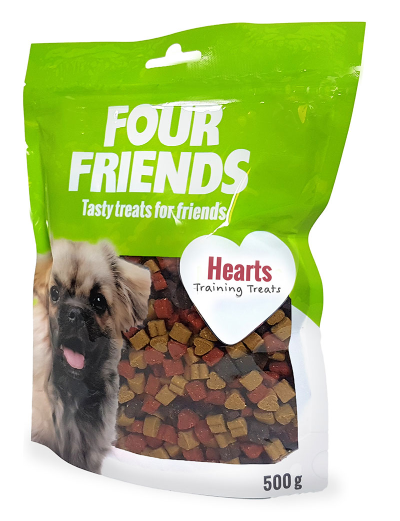 Four Friends Training Treats Hearts 500 g. Träningsgodis till hundar.