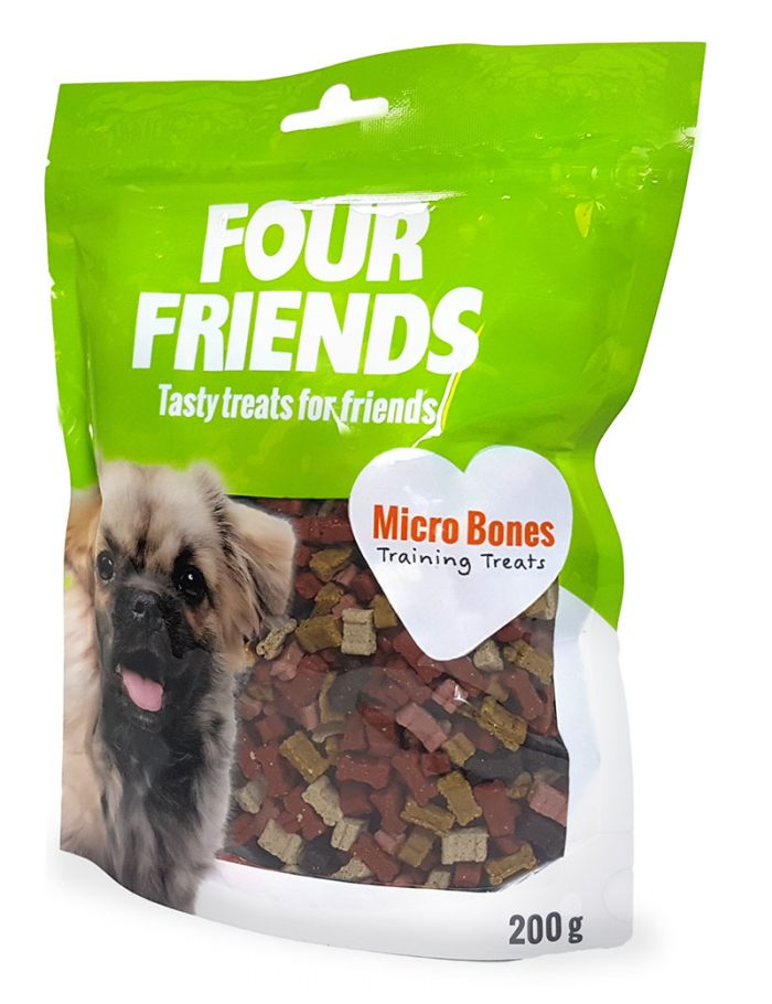 Four Friends Training Treats Micro Bones 200 g. Träningsgodis till hundar.