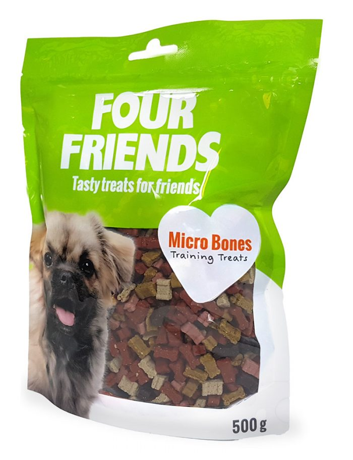 Four Friends Training Treats Micro Bones 500 g. Träningsgodis till hundar.
