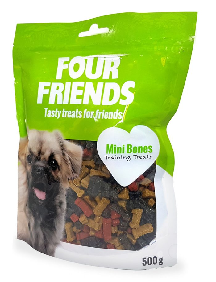 Four Friends Training Treats Mini Bones 500 g. Träningsgodis till hundar.