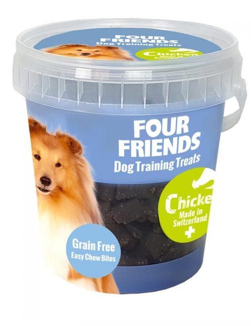 Four Friends Dog Training Treats 400 g. Spannmålsfritt träningsgodis och naturgodis med kyckling, för hundar.