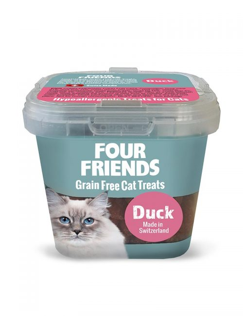 Four Friends Grain Free Cat Treats 100 g. Spannmålsfritt kattgodis av anka.