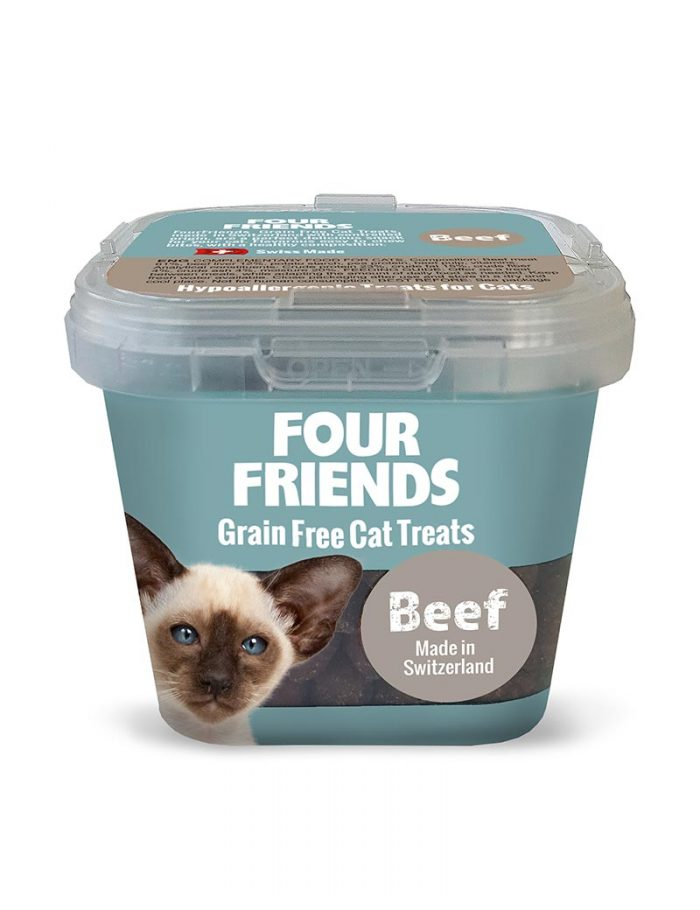 Four Friends Grain Free Cat Treats 100 g. Spannmålsfritt kattgodis av nötkött.