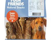 Four Friends Natural Snacks, Beef Lung 100 g. 100% naturligt hundsnacks utav torkad kolunga.