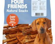 Four Friends Natural Snacks, Beef Sticks 400 g. 100% naturliga tuggpinnar utav torkad kohud.