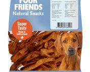 Four Friends Natural Snacks, Lamb Sticks 150 g. 100% naturligt tuggodis till hund utav torkad lammhud.