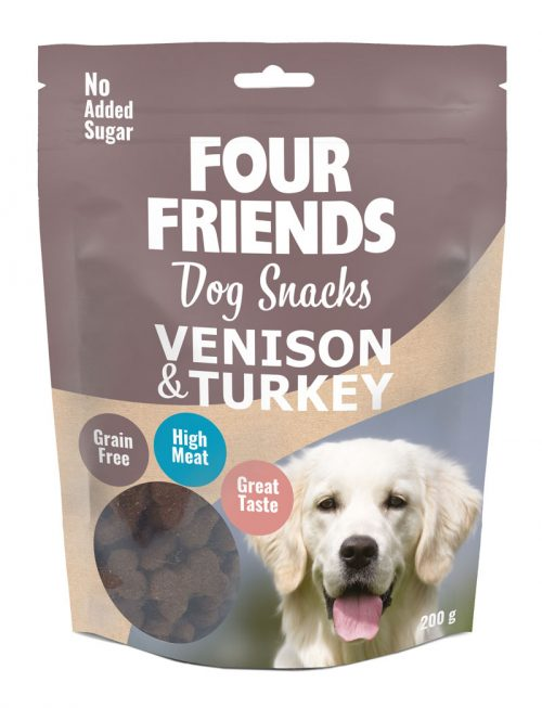 FourFriends Dog Snacks Venison Turkey 200g