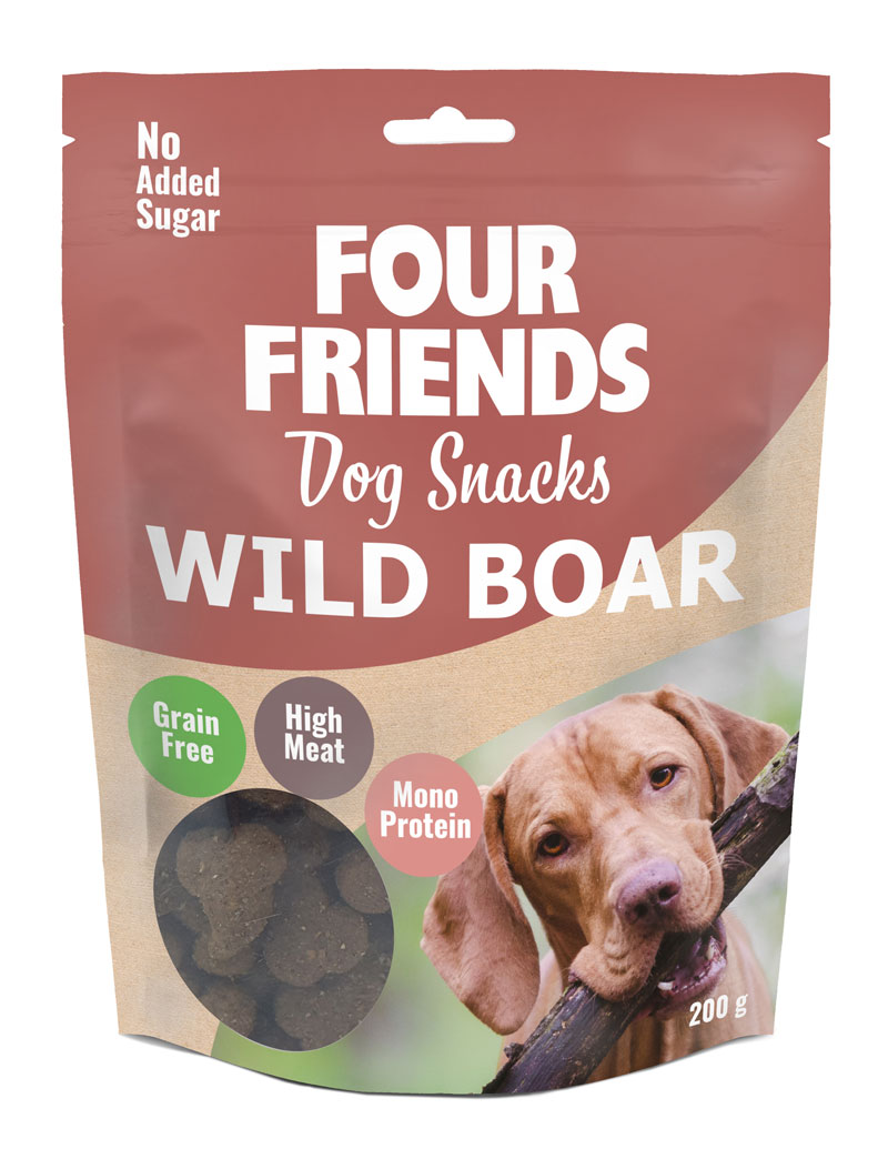 FourFriends Dog Snacks Wild Boar 200g
