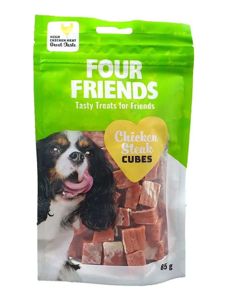 Four Friends Chicken Steak Cubes 85g