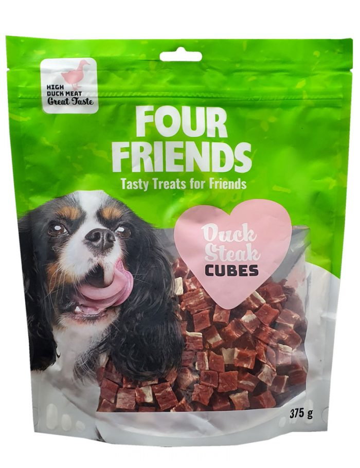 Four Friends Duck Steak Cubes 375g