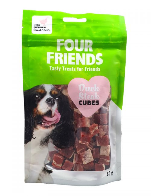 Four Friends Duck Steak Cubes 75g