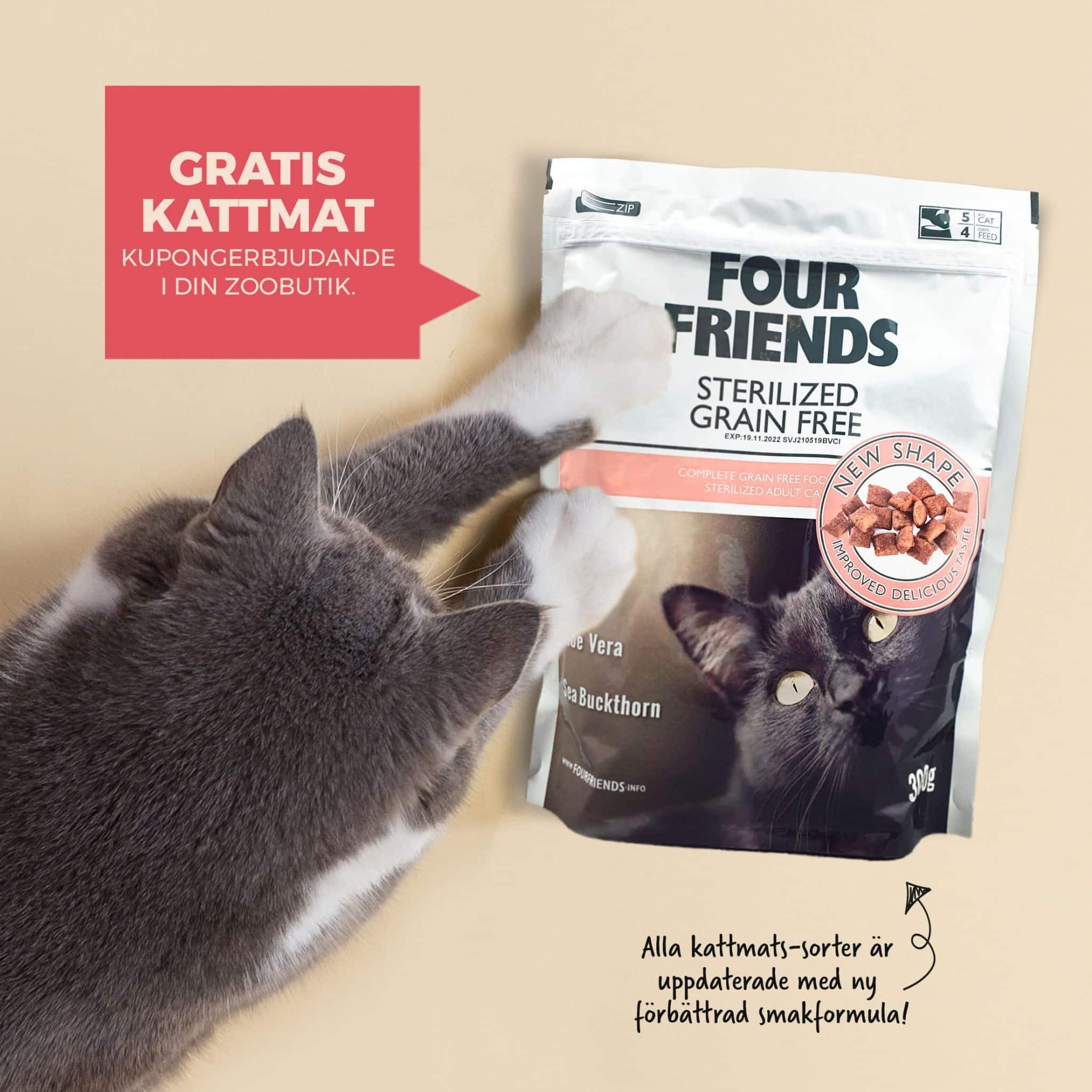FourFriends Sterilized gratis kattmat