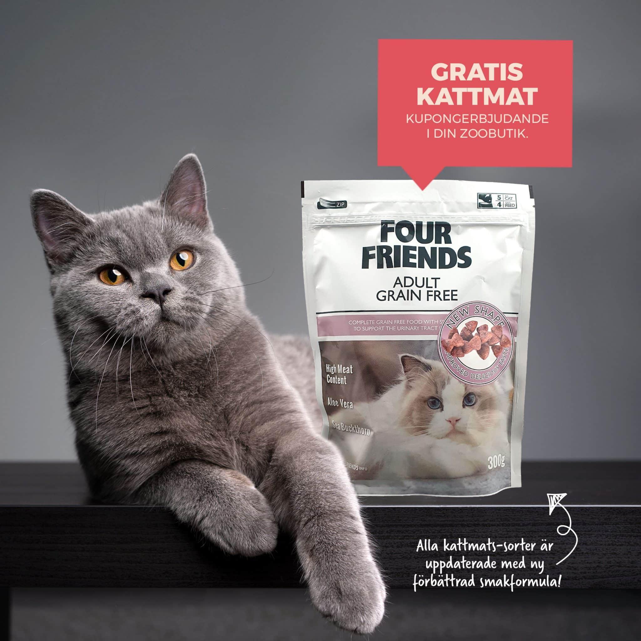 FourFriends Adult gratis kattmat