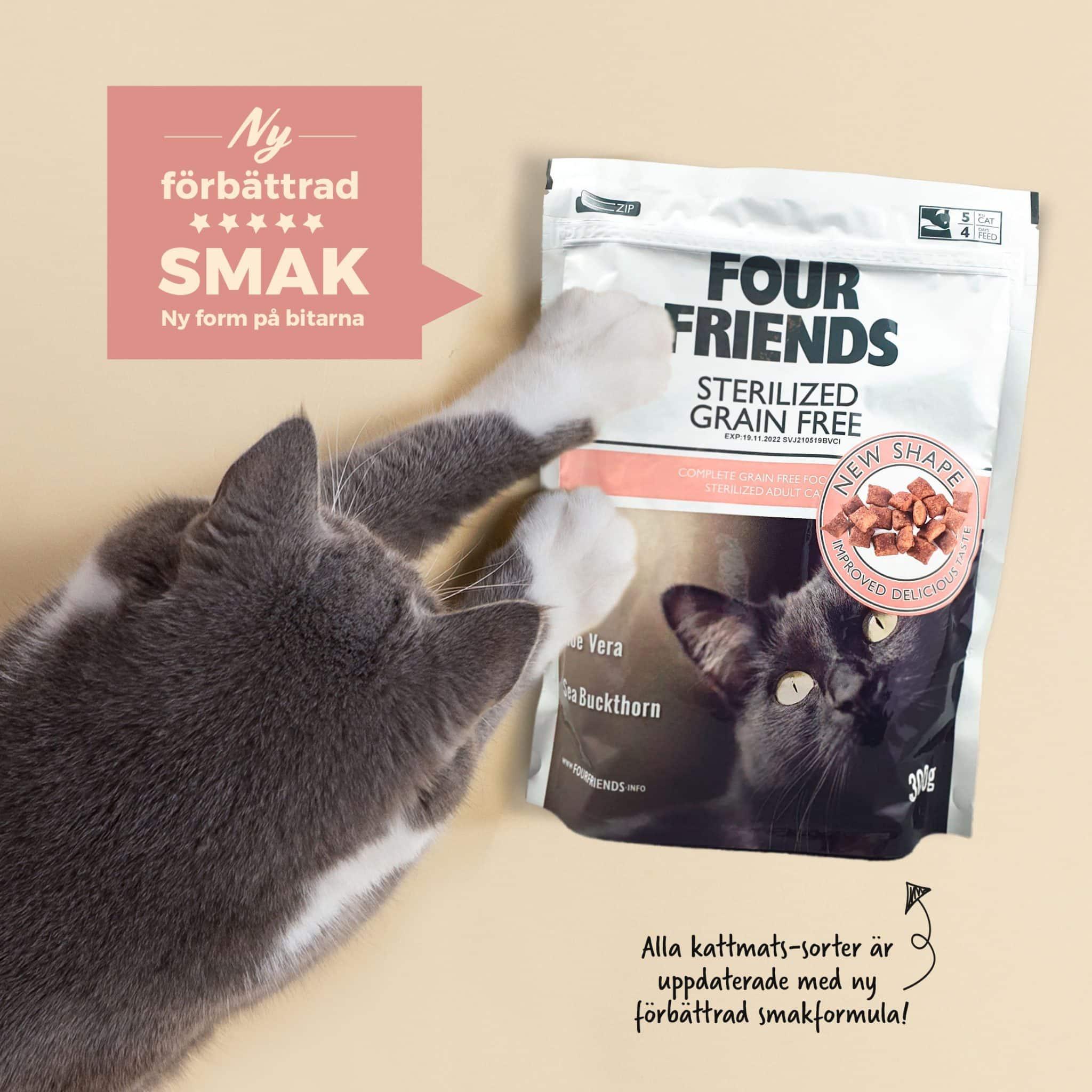 FourFriends kattmat med ny uppdaterad smak