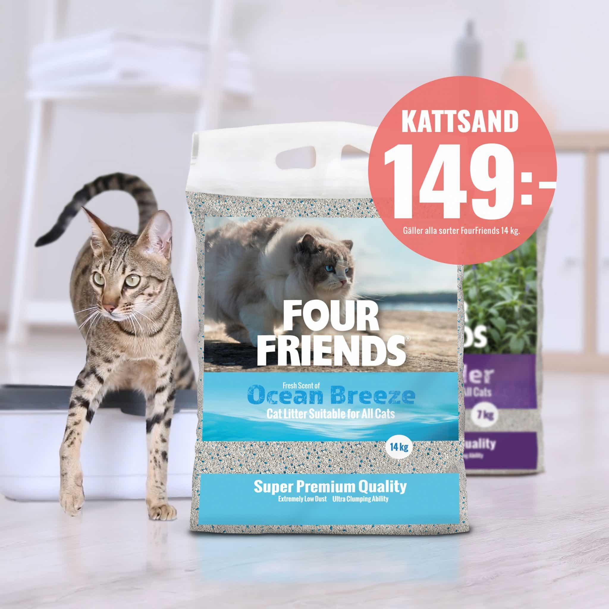 FourFriends kattsand 14 kg kampanj